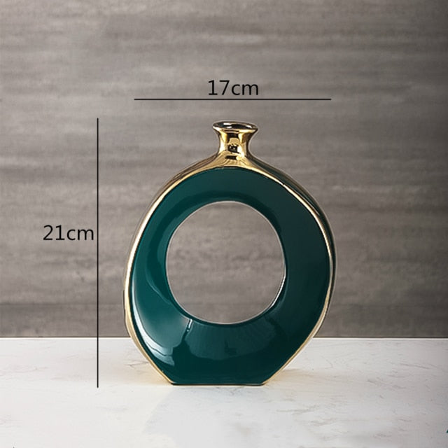 Emerald Green Cutout Vases - Rari Luxuries