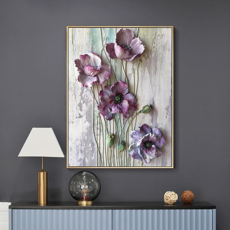 Scandinavian Flower Canvas - Wall Art - Rari Luxuries