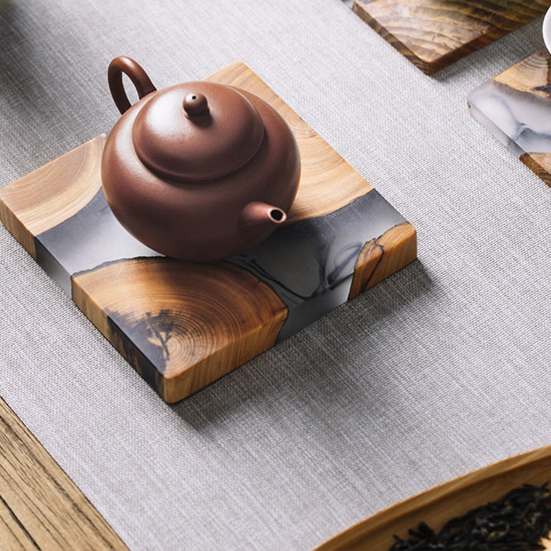 Creative Japanese Wooden Mats/Coasters - Rari Luxuries