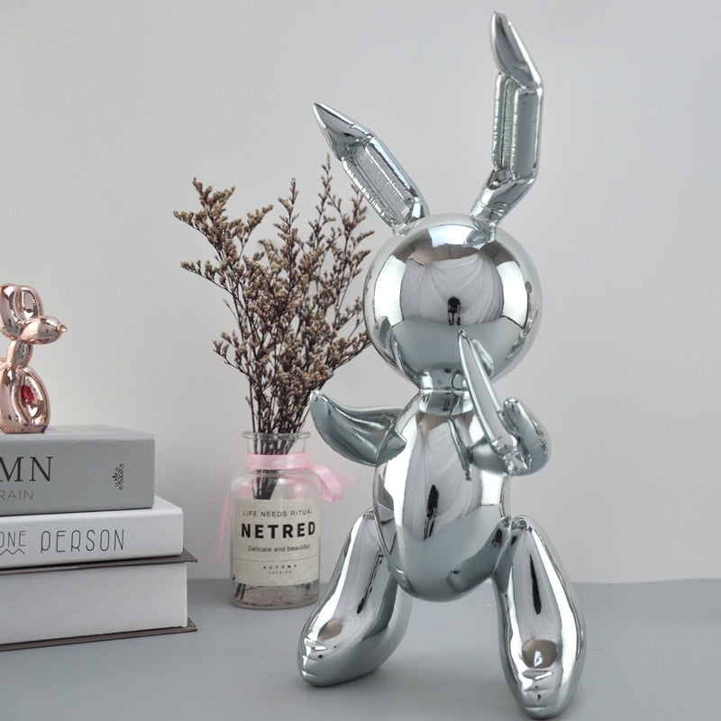 Shiny Balloon Style Rabbit Statue - Rari Luxuries