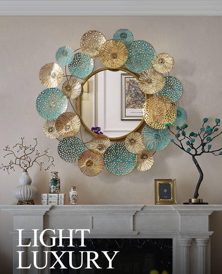 Large Wall Mirror With Decorative Frame - Rari Luxuries