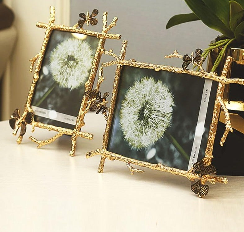 Gold Butterfly Photo Frames - Rari Luxuries