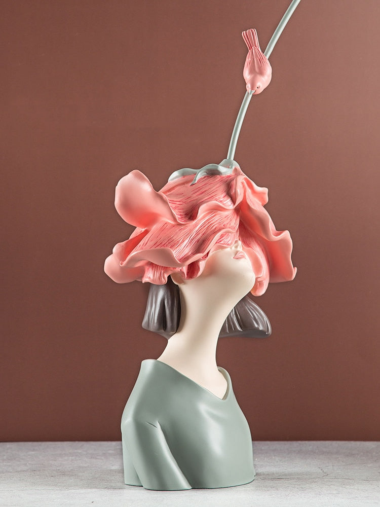 Modern Art Rose Girl Sculpture - Rari Luxuries
