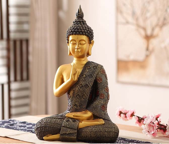 Large Decorative  Buddha Statue - Rari Luxuries