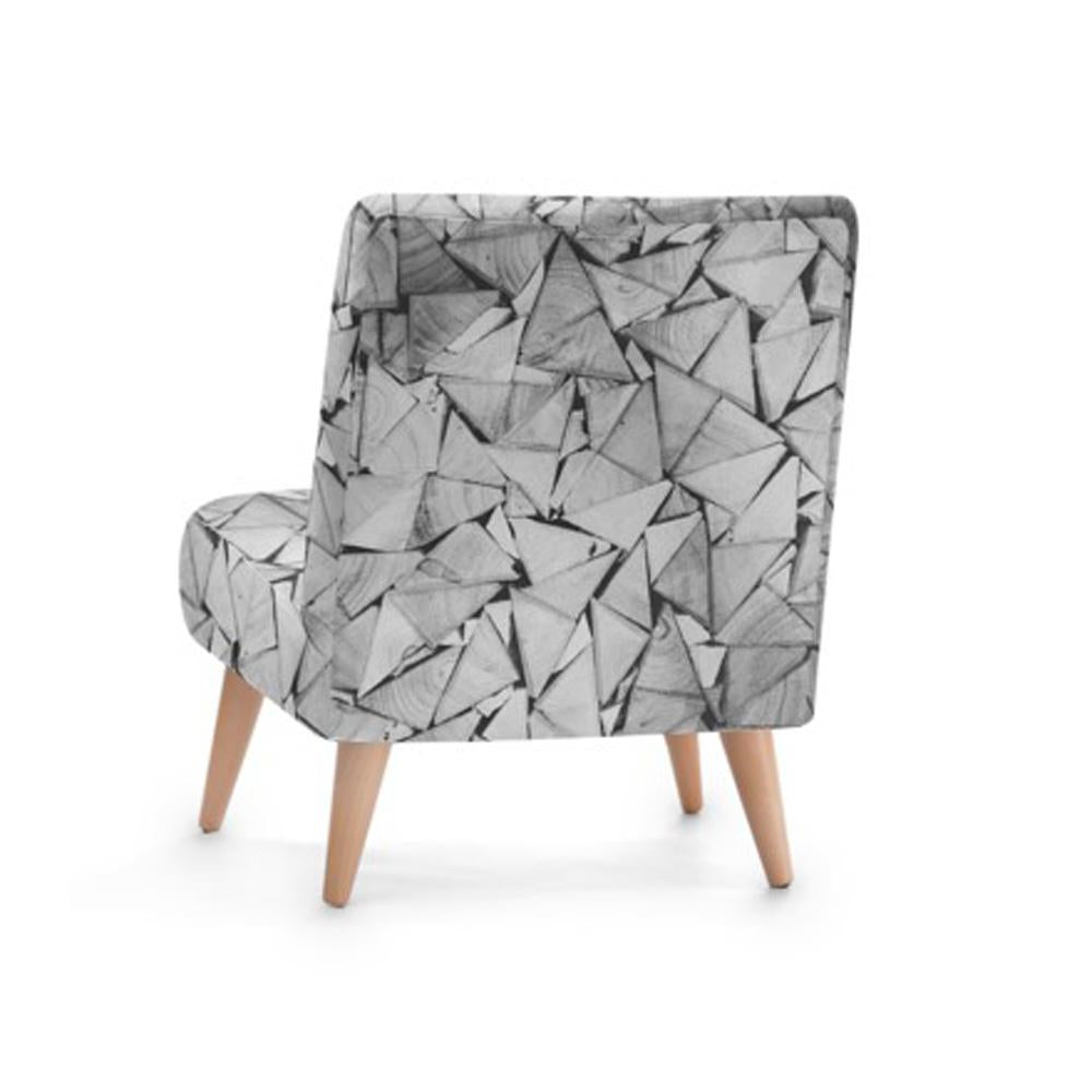 Origami Print Accent Occasional Chair - Rari Luxuries
