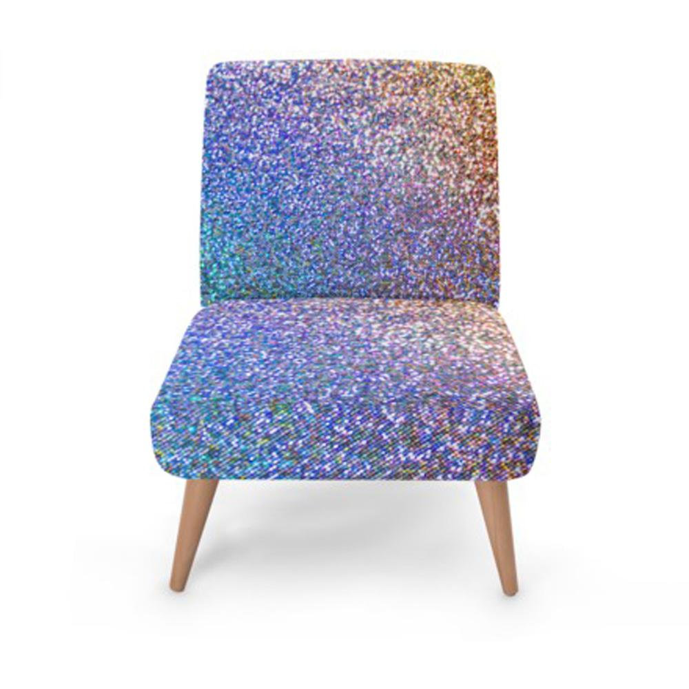 Luxury Glitter Print Accent Occasional Chair - Rari Luxuries