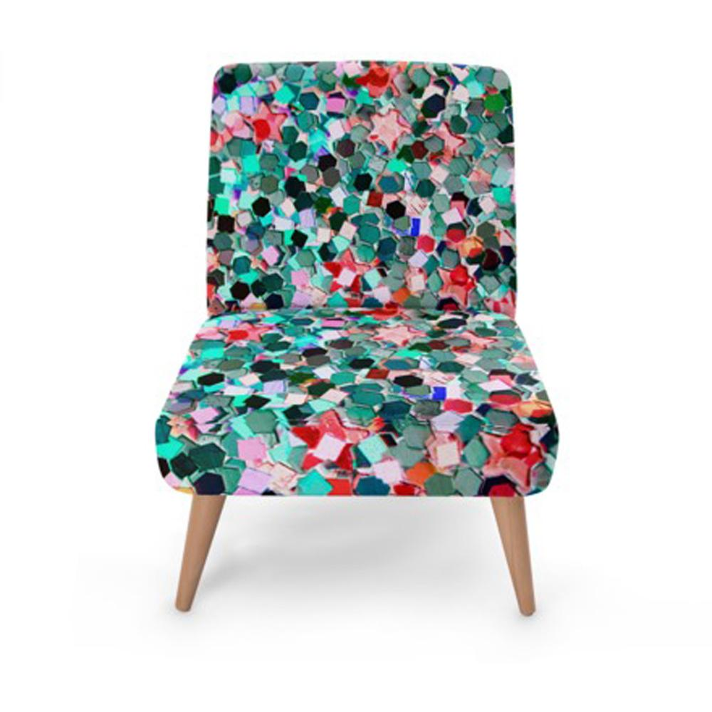 Multi-Colour Jewel Print Accent Occasional Chair - Rari Luxuries
