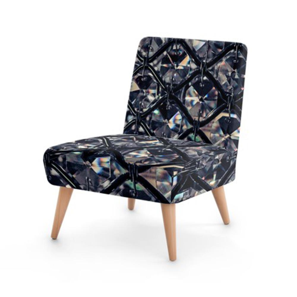Luxury Jewel Print Accent Occasional Chair - Rari Luxuries