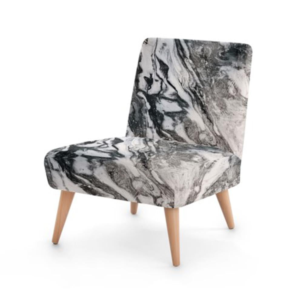 Grey Marble Print Occasional Chair - Rari Luxuries