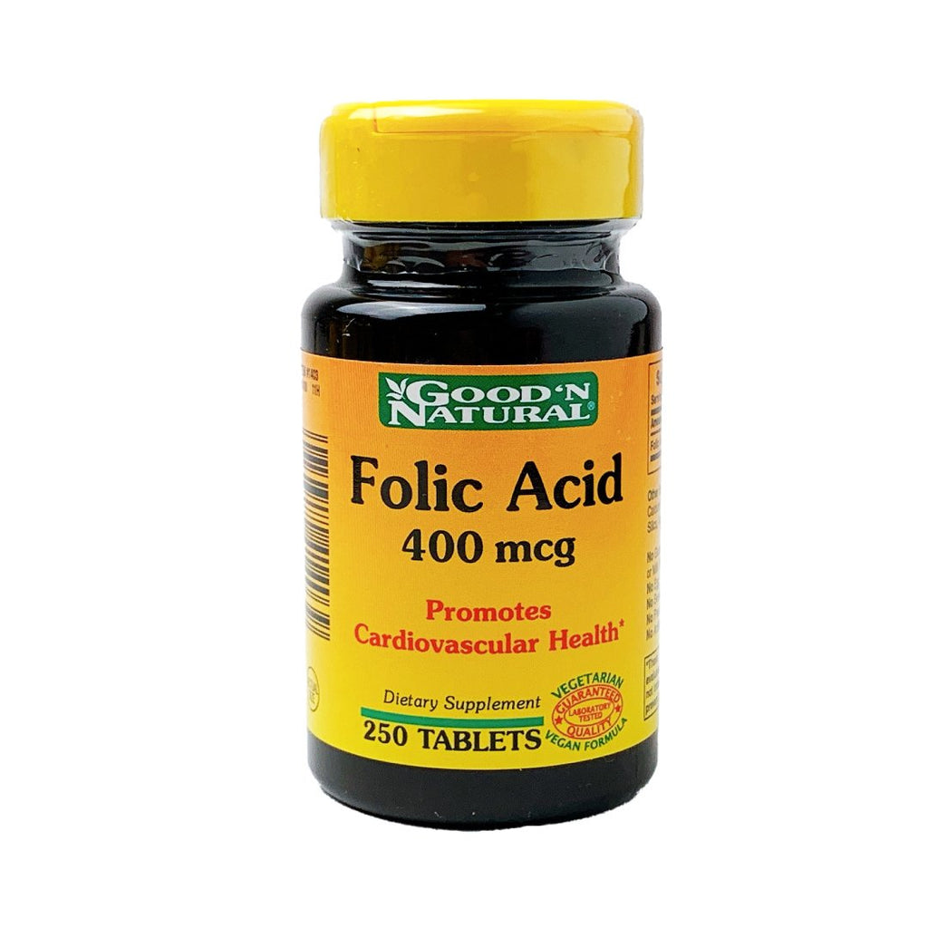 Ácido fólico 400 mcg Good´n natural® / 250 tabletas - CereArt