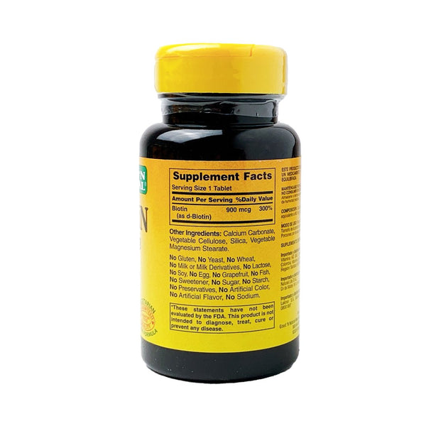 Biotin 900 mcg Good´n natural® / 100 tabletas - CereArt