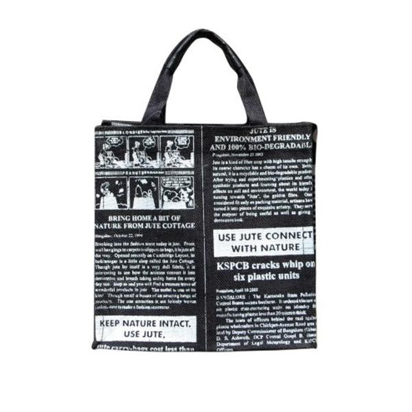 Black Global Lunch Bag