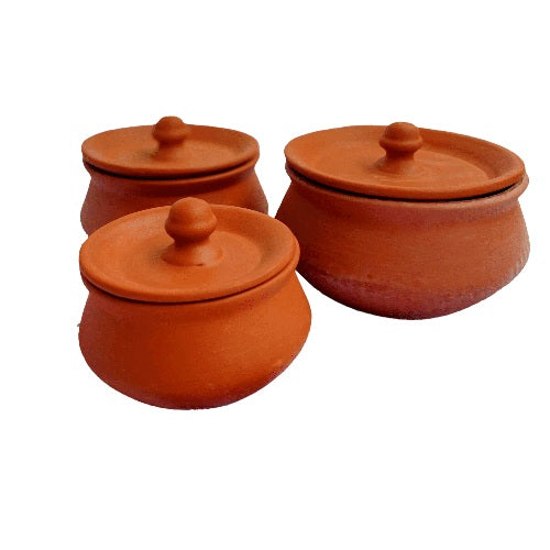 Kulturestreet Earthenware Handi Set (set of 3)