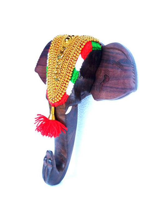 Elephant Nettippattam Rosewood Wall Hanging