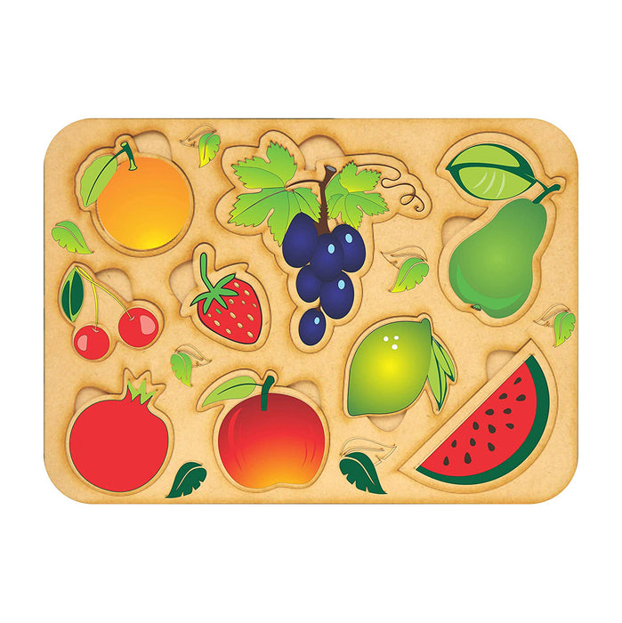 Baboon Wooden Fruit Puzzle Toy for Kids - Baboon Wooden Games Toys & Puzzles for Kids Boys & Girls