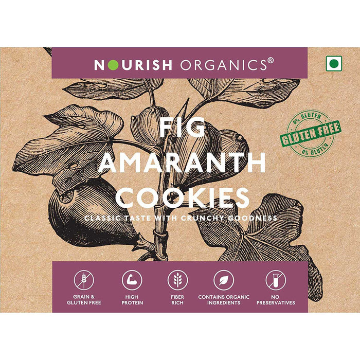 Nourish Organics Fig Amaranth Cookies 110G