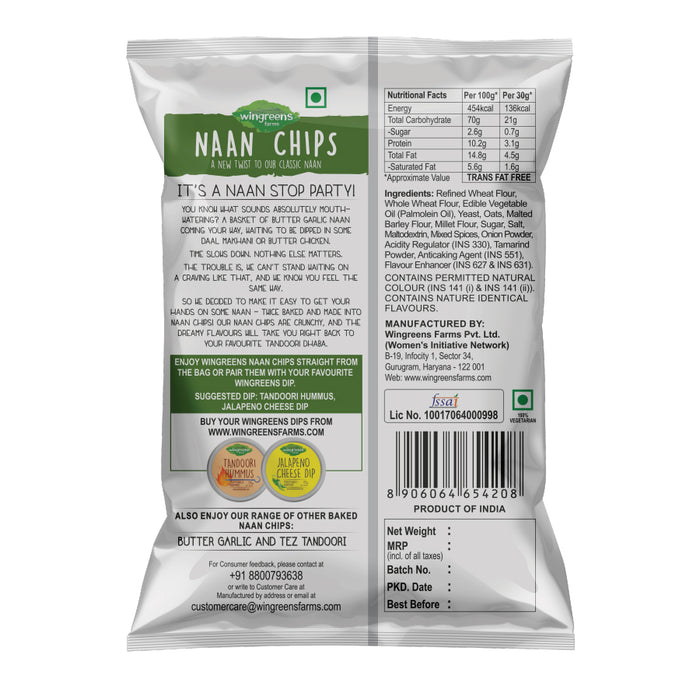 Wingreens Chatpatta Pudina Naan Chips - 60gm