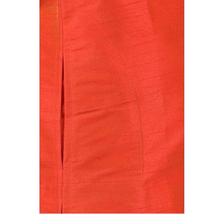 Boys Silk Kurtha Dhoti Panjakajam Set Fire Brick