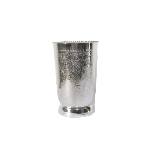 Brass Silver Plated Tumbler 250 ml-Fine Copper