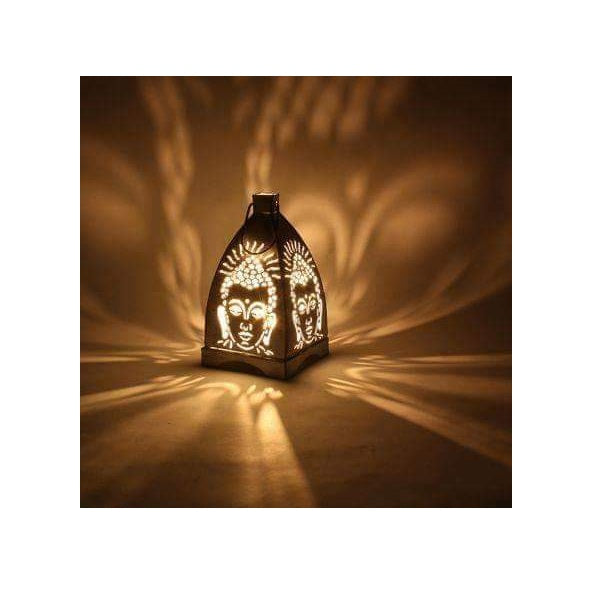 Iron Budha Candle Light Holder - Big