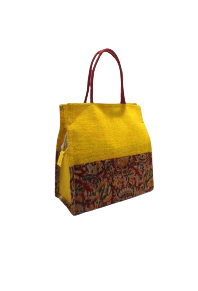 Ladies Fancy Jute Kalamkari Bag