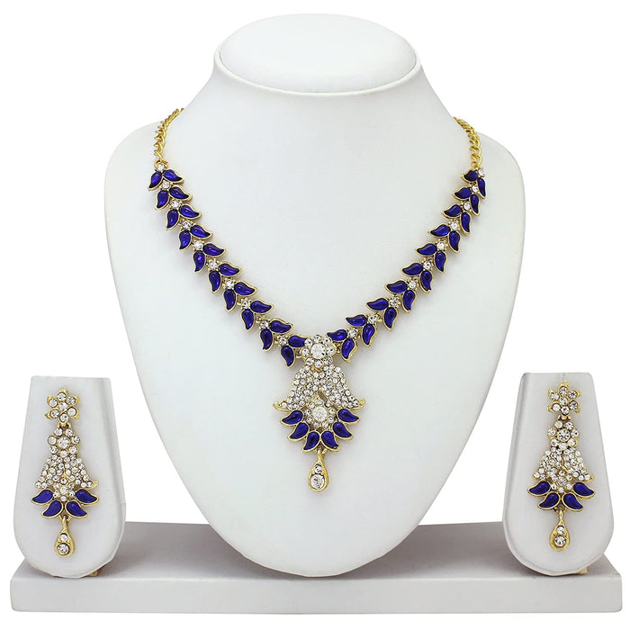 Gold Plated Jewellery Set For Women Blue - GB108