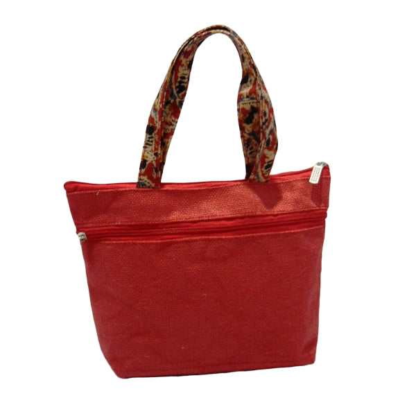 Jute Ladies Hand Bag - Jute Fashions-Maroon