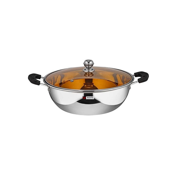 Butterfly Kadai with Glass lid