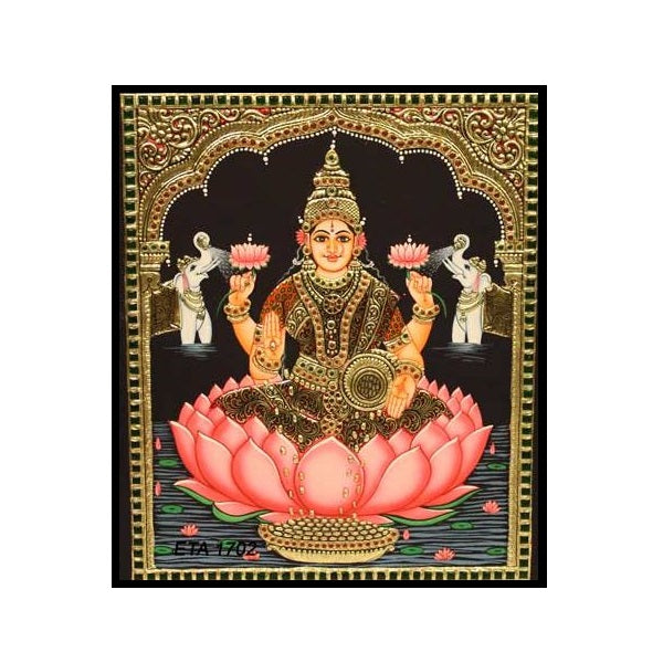 Tanjore Paintings KajaLakshmi 18x14-Ethanic Arts