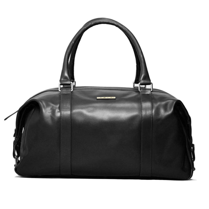 Genuine Leather Duffle Bag Model 502 - Black
