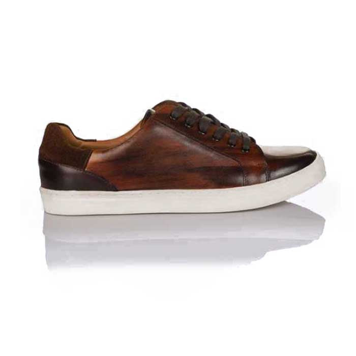Milano Mens Sneakers - Wood Finish