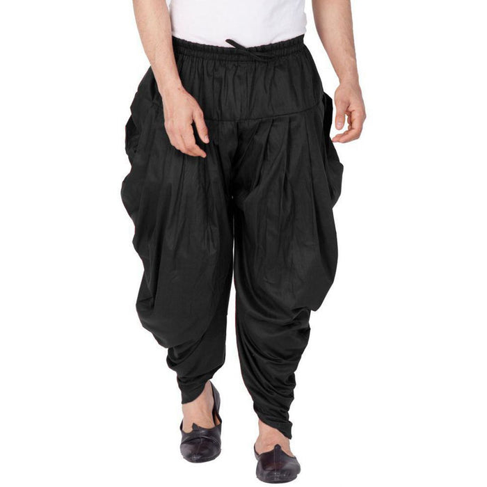 Organic Cotton Dhoti Pant Black-S