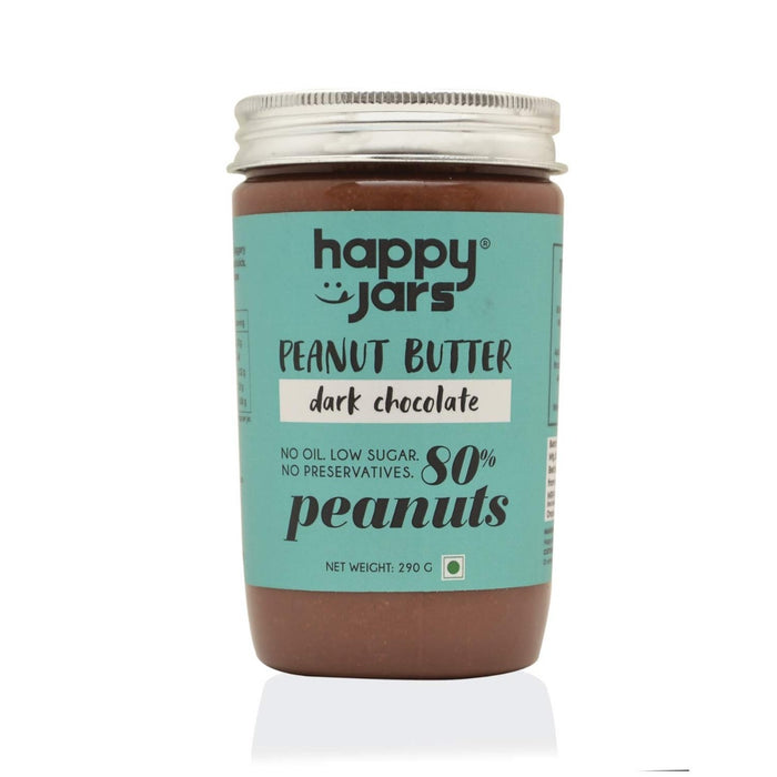 Happy Jars Dark Chocolate Peanut Butter - 290 gm