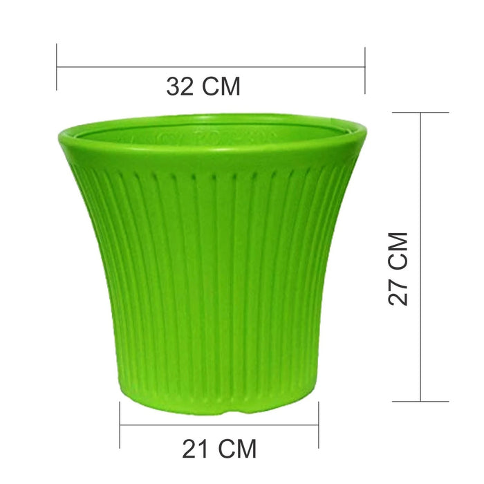 100% Virgin Plastic Tancy Pot - 12 Inches Set of 2 Planter