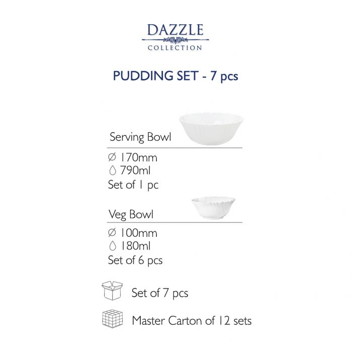 Ceramic Pudding set Secret Garden-7 Pcs