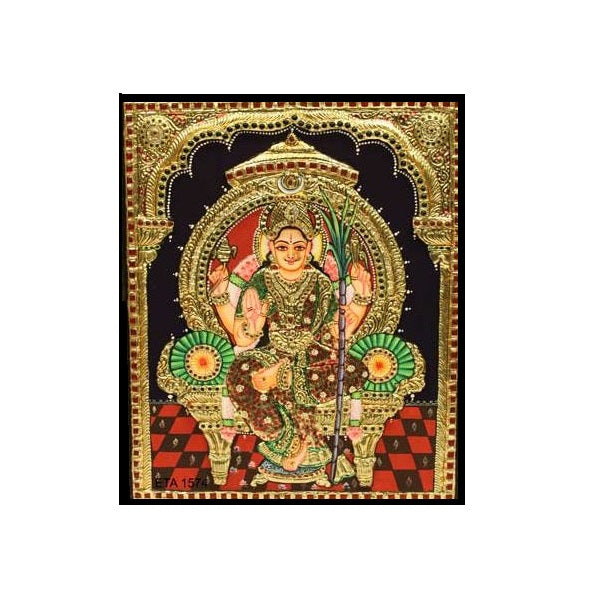 Tanjore Paintings Sri Rajarajeswari 15x12-Ethanic Arts