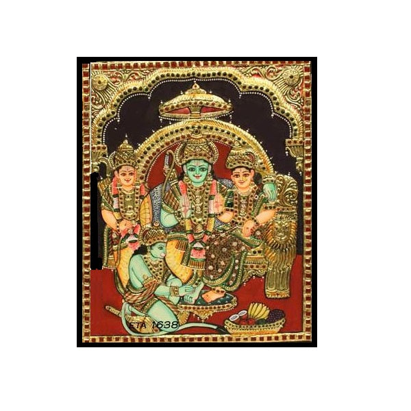 Tanjore Paintings Ram Dharbar 15x12-Ethanic Arts