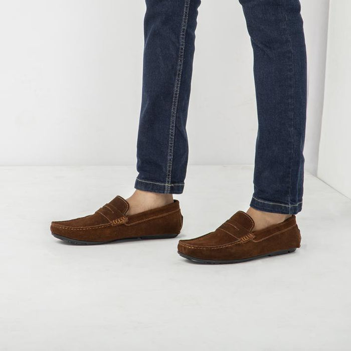 Tessio Casual Walker Shoes - Choco Suede