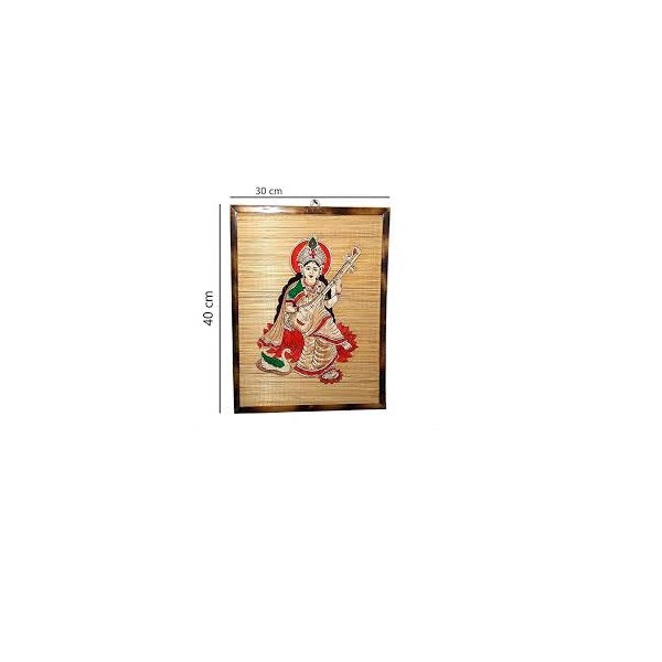 Wall Board Godess Saraswati with Frame