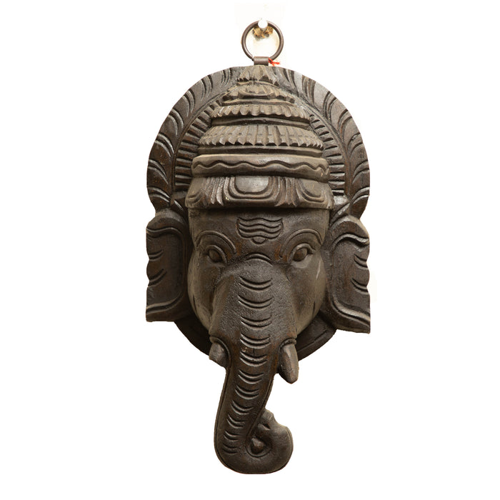 Wooden Ganesha Face Wall Hanging