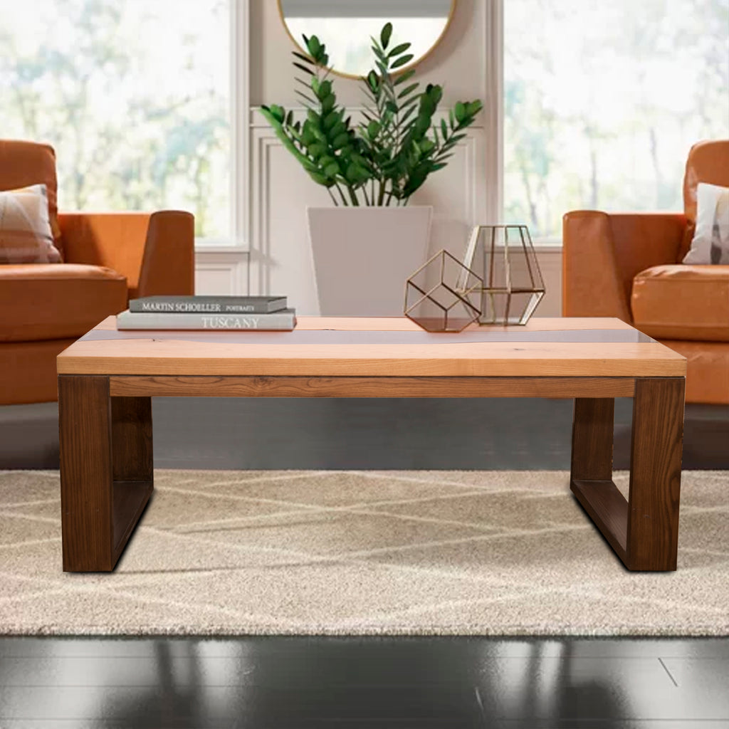 Cabot Coffee and Center Table in white ash finish