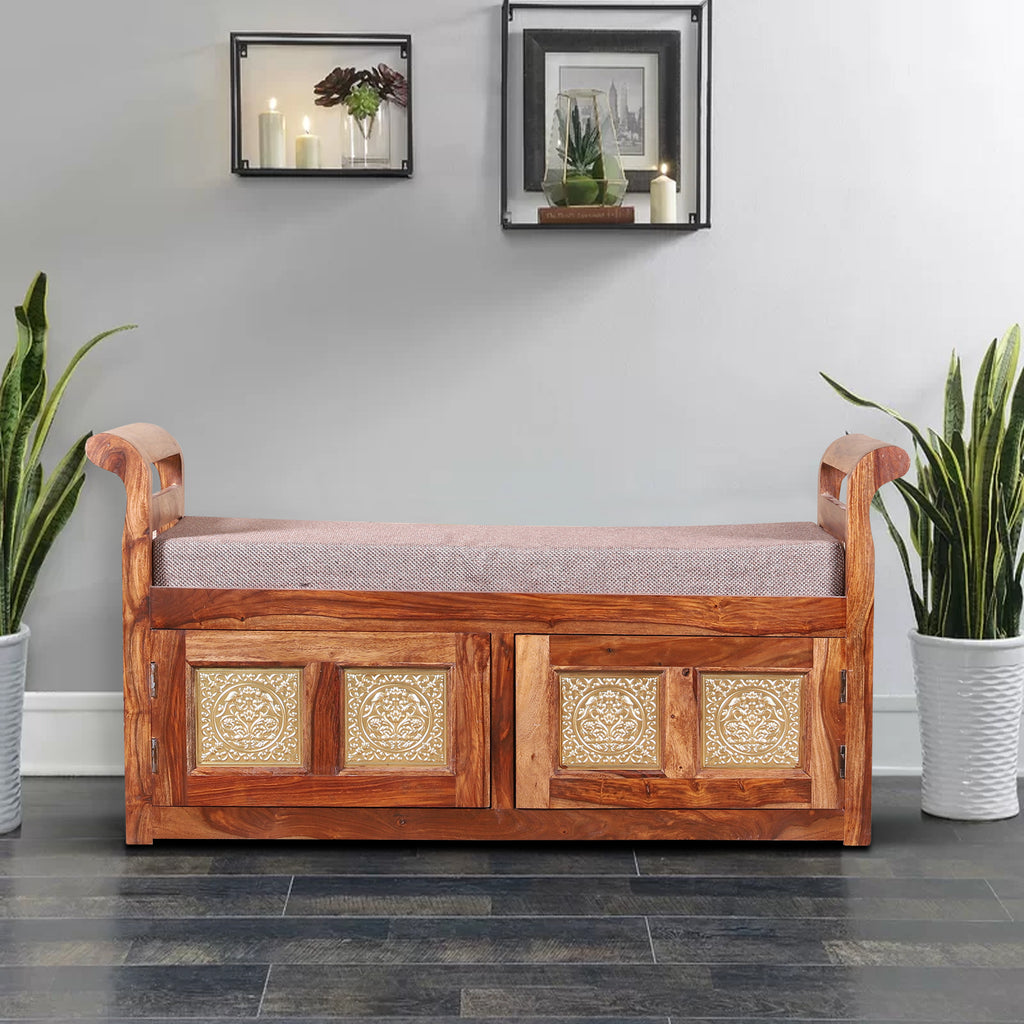 Lucasville Solid Wood Cushion Storage Setti