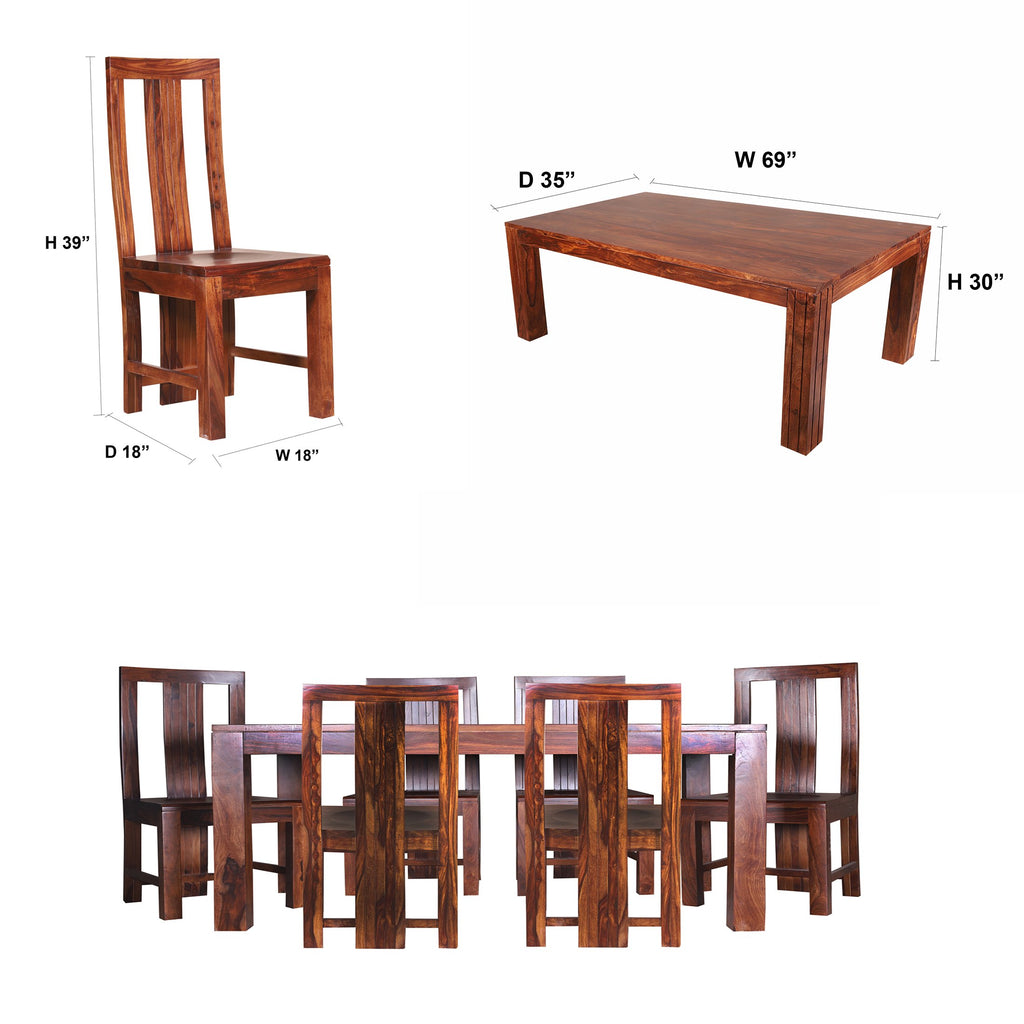 Katrina Solid Wood Six Seater Seater Dining Set - Woodcrony