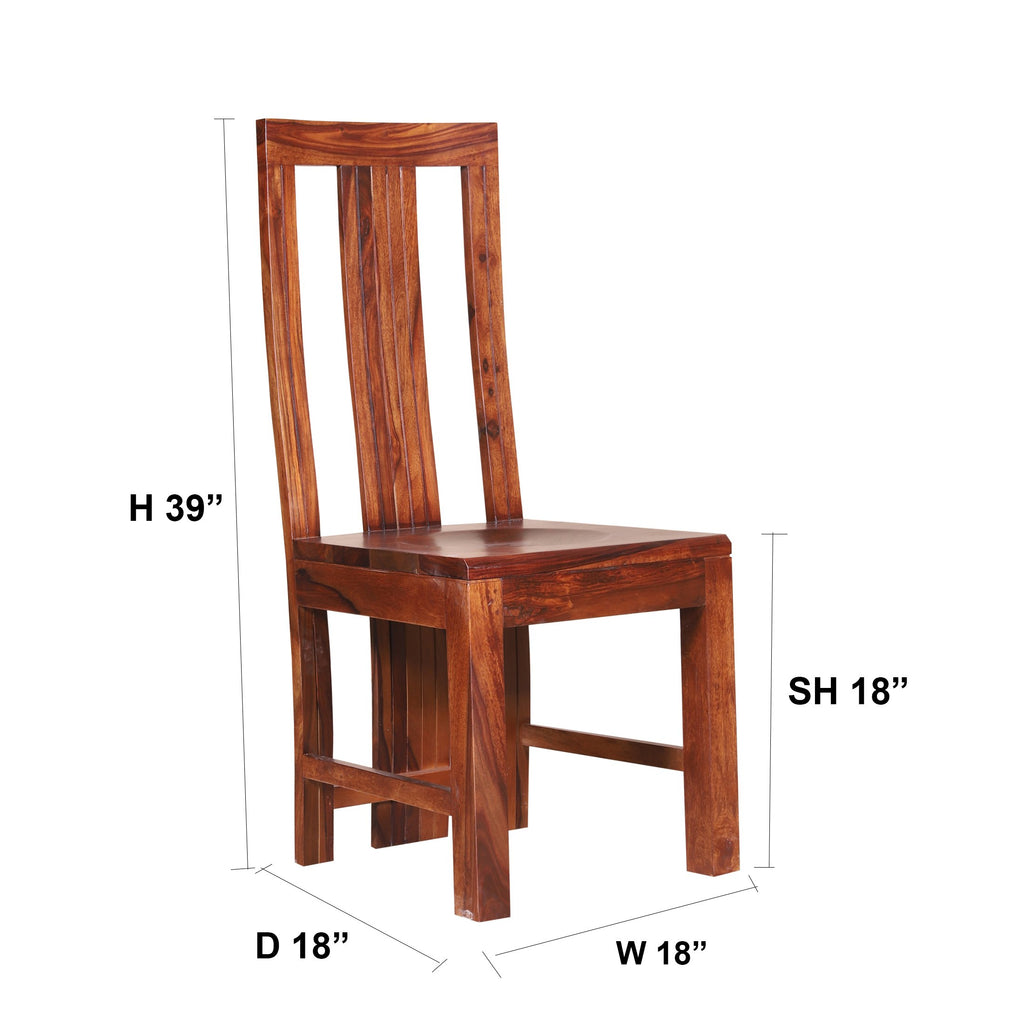Katrina Solid Wood Dining Chair - Woodcrony