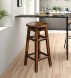 Augusto Solid Wood Kitchen and Bar Stool in Honey Oak Finished by Woodcrony