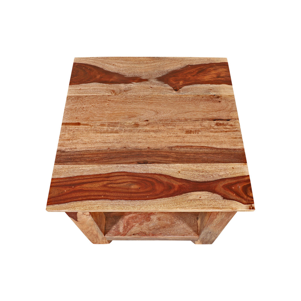 Caserta Solid Wood in Natural Side Table/ Night Stand - Woodcrony