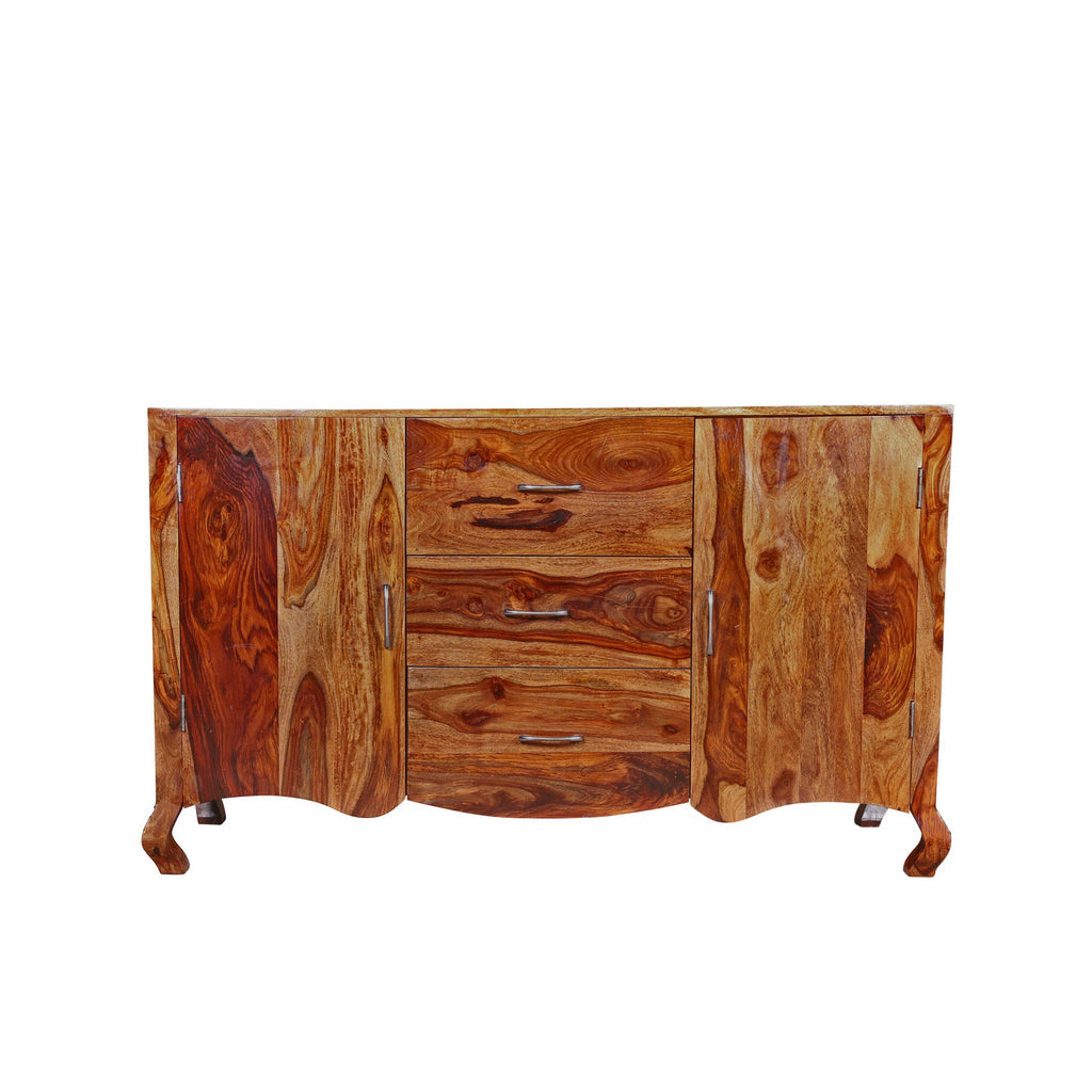 Shay Solid Wood Cabinet in Honey Finished By Woodcrony - Woodcrony