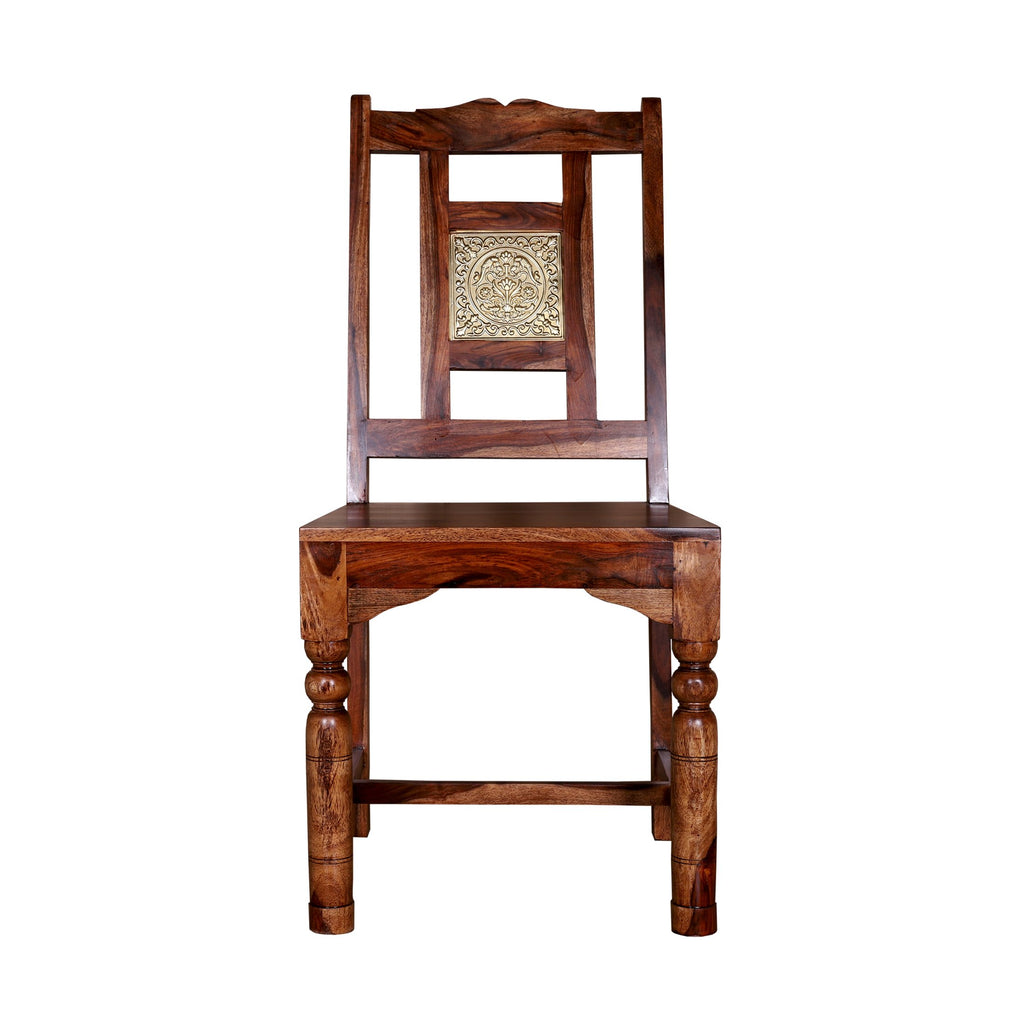 Ellsworth Brass Block Dining Chair - Woodcrony
