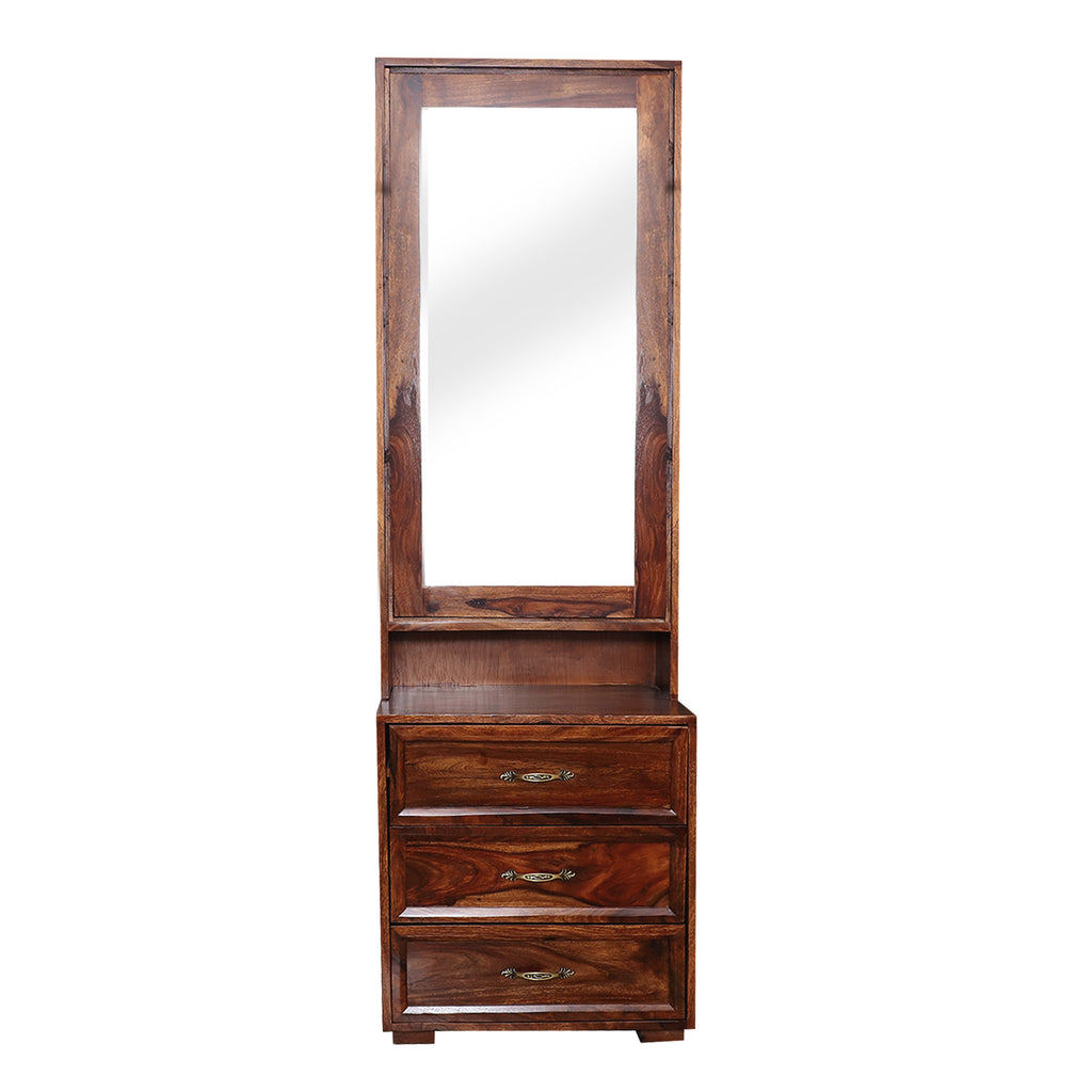 Camille Wooden Dressing Mirror in Natural Finish