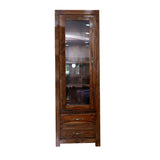 Brokloff Wooden Display Cabinet with shelves
